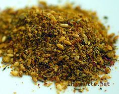 Za'atar... One of the most common spices in Middle Eastern cooking. You can make a pastry (pizza) out of this by mixing it with olive oil and spreading over pizza dough. You can also use it as a dipping mix with pita bread and olive oil. It is definitely a Middle Eastern staple.
