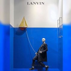 "LANVIN HOMME,Paris,France, ""The days pass happily with me wherever my ship sails"", pinned by Ton van der Veer"