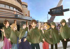 Shingeki no kyojin [進撃の巨人] Cr:tw: Real Anime, Anime Love, Anime Guys, Attack On Titan Funny, Attack On Titan Anime, Aot Funny, Atack Ao Titan, Por Tras Das Cameras, Eren X Mikasa