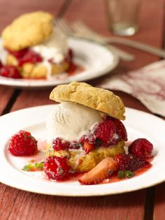 Strawberry Raspberry Shortcakes, from Anne Burrell's Cook Like a Rock Star cookbook, available in Food Network Store for $19.49.