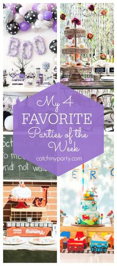 My favorite parties this week include a purple girl Halloween party, a boho pump. - Betty W. Halloween Bingo, Halloween Countdown, Girl Halloween, Halloween Activities, Family Halloween, Halloween Ideas, Whimsical Halloween, Spooky Halloween Decorations, 1st Boy Birthday