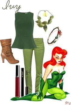 """Gotham Girls: Poison Ivy"" by y-ramirez ❤ liked on Polyvore"