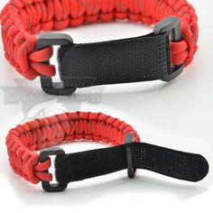 Adjustable Velcro buckle paracord bracelets,china manufacturer directly
