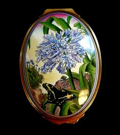 Marianne North, African Lily, Halcyon Days, Agapanthus, Enamels, Trinket Boxes, Botanical Gardens, Free Delivery, Butterflies