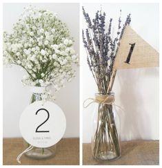 Ideas DIY para numerar las mesas y tu 'guestlist' de boda