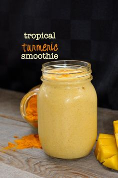 Tropical Turmeric Smoothie  www.flavourandsavour.com #turmeric #mango #cleaneating. Start with a healthy breakfast.