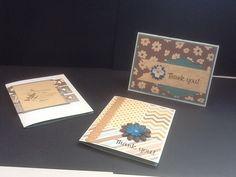 Cards using Hampton art pad: metro green