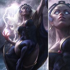 Storm (Ororo Munroe) X-man Marvel Comic Book Characters, Marvel Characters, Comic Character, Comic Books Art, Comic Art, Heros Comics, Marvel Comics Art, Marvel Heroes, Rogue Comics