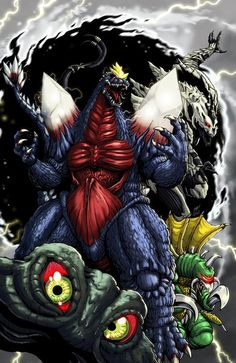 Godzilla Alien Monsters Fan Artwork - Godzilla 2014 Gallery