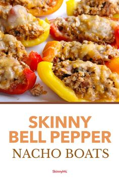 Satisfy your cravings for a classic Tex-Mex snack without worrying about your waistline by subbing in bell peppers for ordinary tortilla chips. Skinny Recipes, Ww Recipes, Low Carb Recipes, Vegetarian Recipes, Cooking Recipes, Healthy Recipes, Vegetarian Diets, Cream Recipes, Clean Eating Vegetarian
