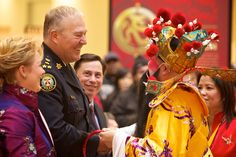 Kung Hay Fat Choy! Come ring in the New Year at Scarborough Town Centre on Saturday, February 9 starting at 12pm. (Image: The God of Fortune with Police Chief Bill Blair. STC 2012). #Chinese_New_Year #2013 #Scarborough #Ontario #shopSTC