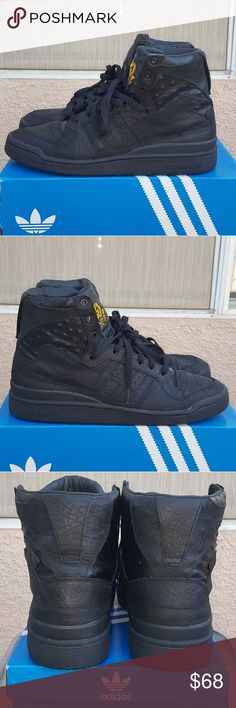 sports shoes bb212 dc786 Adidas Forum Ostrich High Top Mens 12 Adidas Forum high top, black, mens  size