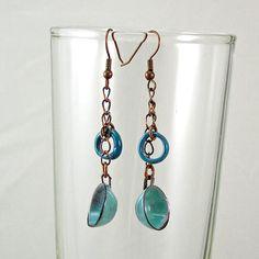 Coffee Cup Earrings Seafoam Green by XOHandworks