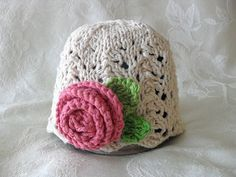 Baby Hat Knitting Knit Baby Hat Cotton Knitted por CottonPickings