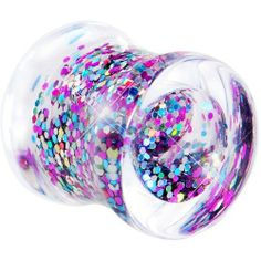 00 Gauge Acryilc Multi Glitter in Motion Saddle Plug Body Candy. $5.99. Purchase 2 for a pair. Sold individually. Save 77%!