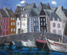 Anne Redpath - Tréboul Harbour, France