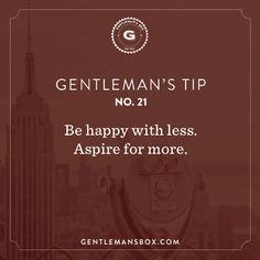 Gentleman's Tip No. 21