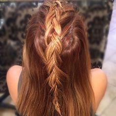 Briaded mohawk! #braids #dutchbraid #hairtalk