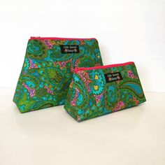 Vintage fabric cosmetic bags by Little General Design