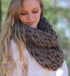 Choose Your Color! - The Tori Infinity - An Extra-Chunky, Extra Wide-Knit, Double-Wrap Infinity Scarf - pinned by pin4etsy.com