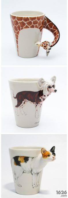 Animal cups. i have the giraffe one!