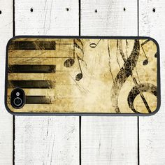 Music iPhone case, fits iPhone 4, 4s, - iPhone 5 Case. $16.00, via Etsy.