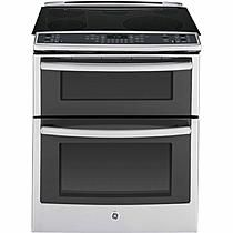 "GE Profile™ Series PS950SFSS 30"" Slide-In Electric Range w/ Convection Double Oven - Stainless Steel"