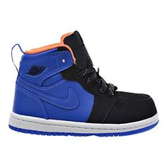 015d8b8a31440 Jordan 1 Retro High BT Toddlers Shoes Hyper CobaltAtomic OrangeBlackWhite  705304426 5 M US    More info could be found at the image url.