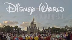 Falling - Shooting Star at Walt Disney World Magic Kingdom behind Cinder...