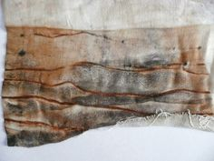 Rust Dye - with copper wire (copper sulfite/ copper and vinegar is toxic so use caution)
