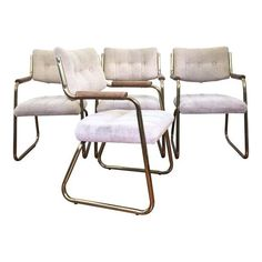 Image of Vintage Brass Dining or Side Chairs - Set of 4