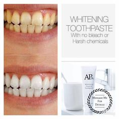 Want a brighter whiter smile? - No bleaches - No peroxide or harsh chemicals - Safe for everyday use - Provides 24 hr. protection against plaque Message me for more details or to place a order! Follow my group for updates, new products, giveaways, more! https://www.facebook.com/groups/1411886135501258/ https://www.facebook.com/christina.smith.3597789/posts/10102542444358400