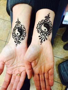 Yin yang henna design