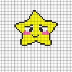 Bashful Star Perler Bead Pattern | Bead Sprites | Characters Fuse Bead Patterns