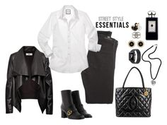 """Black and White"" by christinemusal ❤ liked on Polyvore featuring Citizens of Humanity, HIDE, Chanel, NOVICA, Jo Malone and Kate Spade"