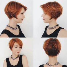 A-line Short Haircuts - Cute Pixie Hairstyles with Bangs