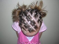 Cheater cornrows!  No french braiding required.  ;)