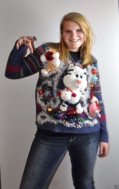 Cheri's Ugly Tacky Funny Christmas Sweater LAND OF MISFIT TOYS ...
