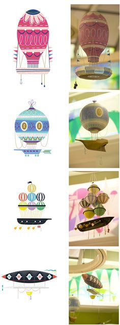 Wonderful graphics for Boutique JouJou de Jouets! JouJou: A Curious Boutique for Toys and Treats. Paper Art, Paper Crafts, Crafty Craft, Toy Store, Air Balloon, Design Art, Creative Design, Eye Candy, Creations
