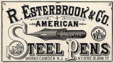 vintage advertisementssteel pens vintage aged ephemera