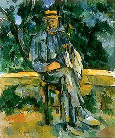 Paul Cezanne - Seated Man, 1905-06