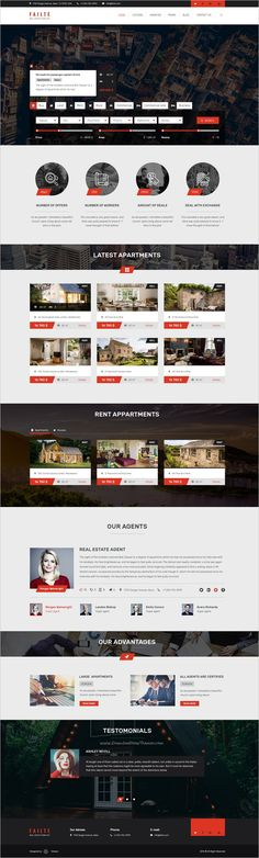 Failte is a modern and high quality design #PSD template for #webdev creative real estate, #property business websites download now➩ https://themeforest.net/item/failte-salerent-real-estate-psd-template/19212263?ref=Datasata