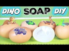 DIY Dino Egg Soap - Easy Soap Making How To - Melt & Pour - Dinosaur, Dragon, & Unicorn Eggs - YouTube
