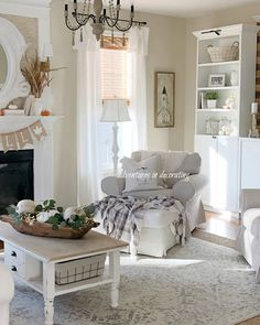 Adventures in Decorating: Our 2019 Fall Home Tour . Fall Living Room, Chic Living Room, Living Room Decor, Cozy Living, Living Rooms, Southern Cottage, Simply Southern, Southern Living, Country Living