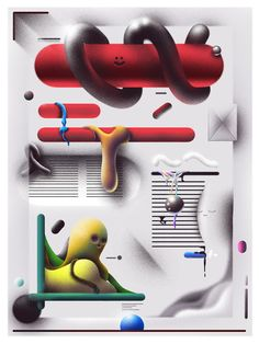 Imaginary print, interfaces, and in between on Behance