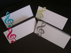 10 MUSIC MUSICAL NOTES NAME CARDS PLACE SETTING TABLE DECORATIONS 25 colours