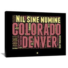Naxart 'Denver Word Cloud 1' Textual Art on Wrapped Canvas Size: