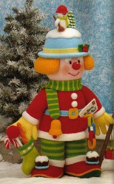 Archivo de álbumes Jean Greenhowe, Knitted Animals, Elf, Free Pattern, Knit Crochet, Projects To Try, Clowns, Christmas Ornaments, Alan Dart