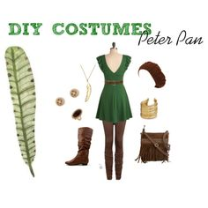 Hmmm...so want to cosplay as female peter pan. Might try something similar.