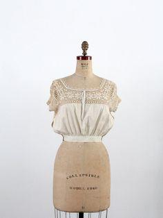 chemisier des années 1900 / Crotchet édouardienne par 86Vintage86, $198.00